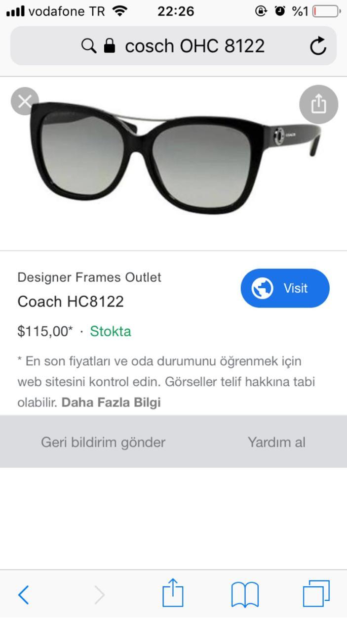 Coach Gözlük