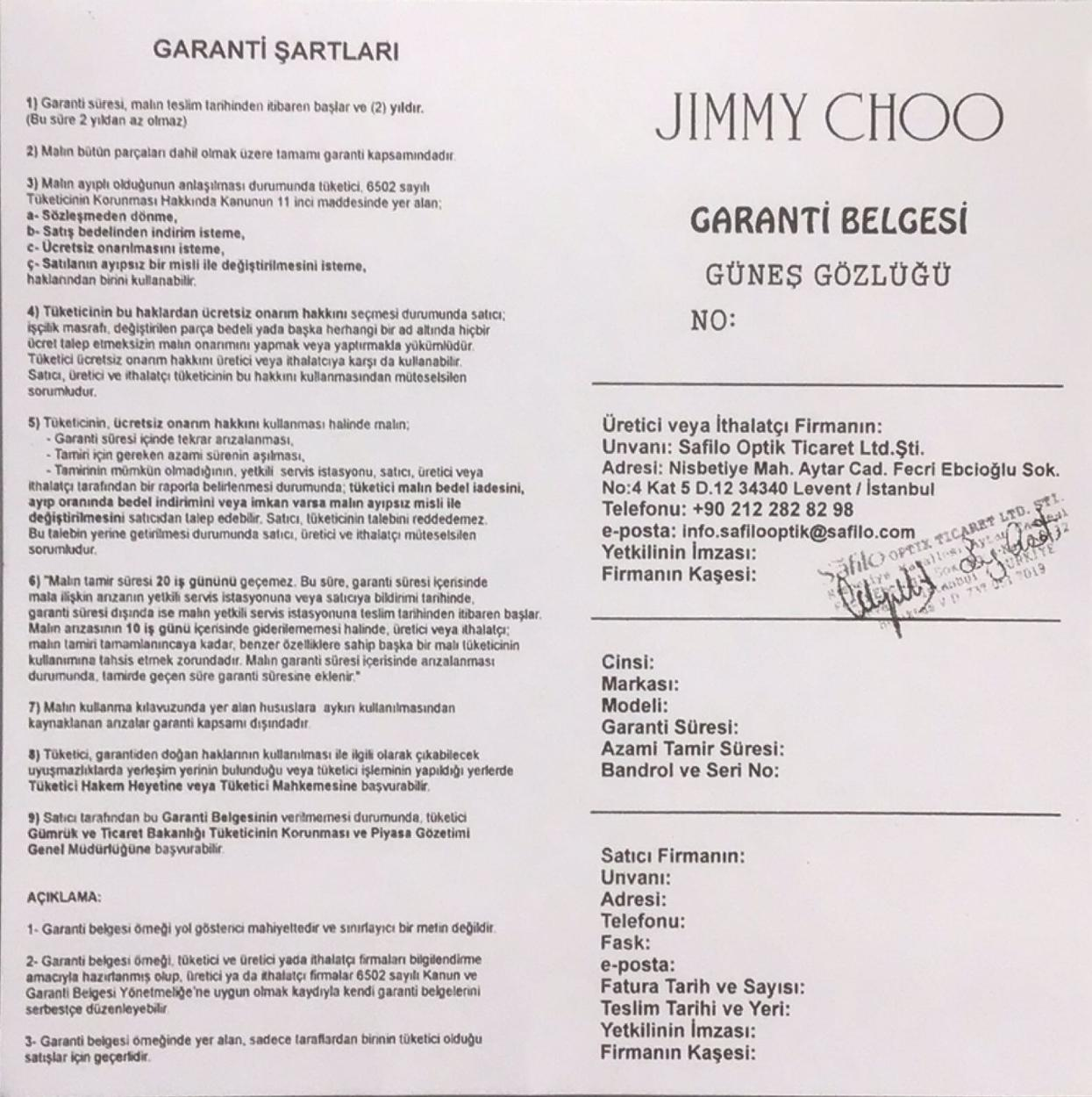 Jimmy Choo Gözlük