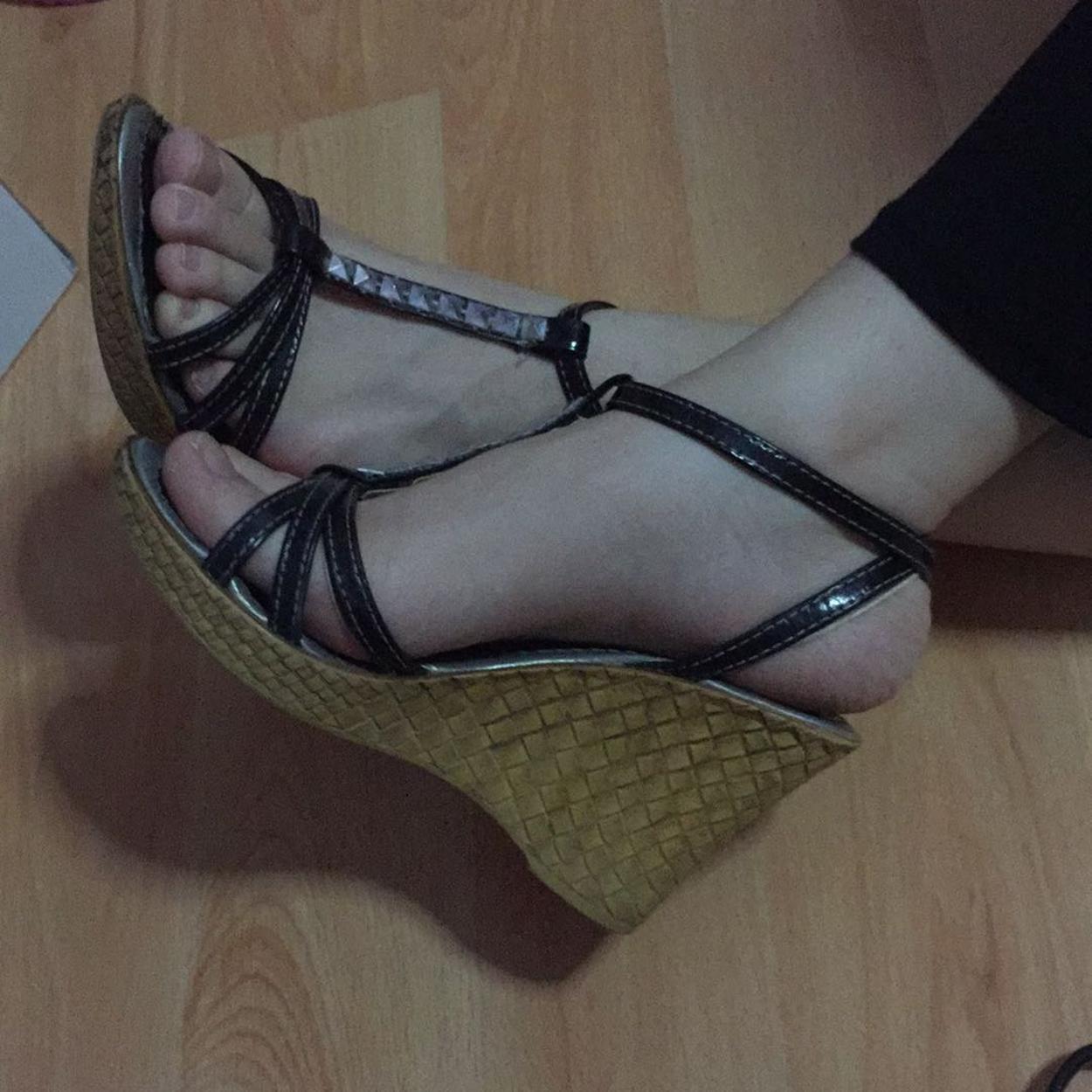 Art Shoes Dolgu topuklu