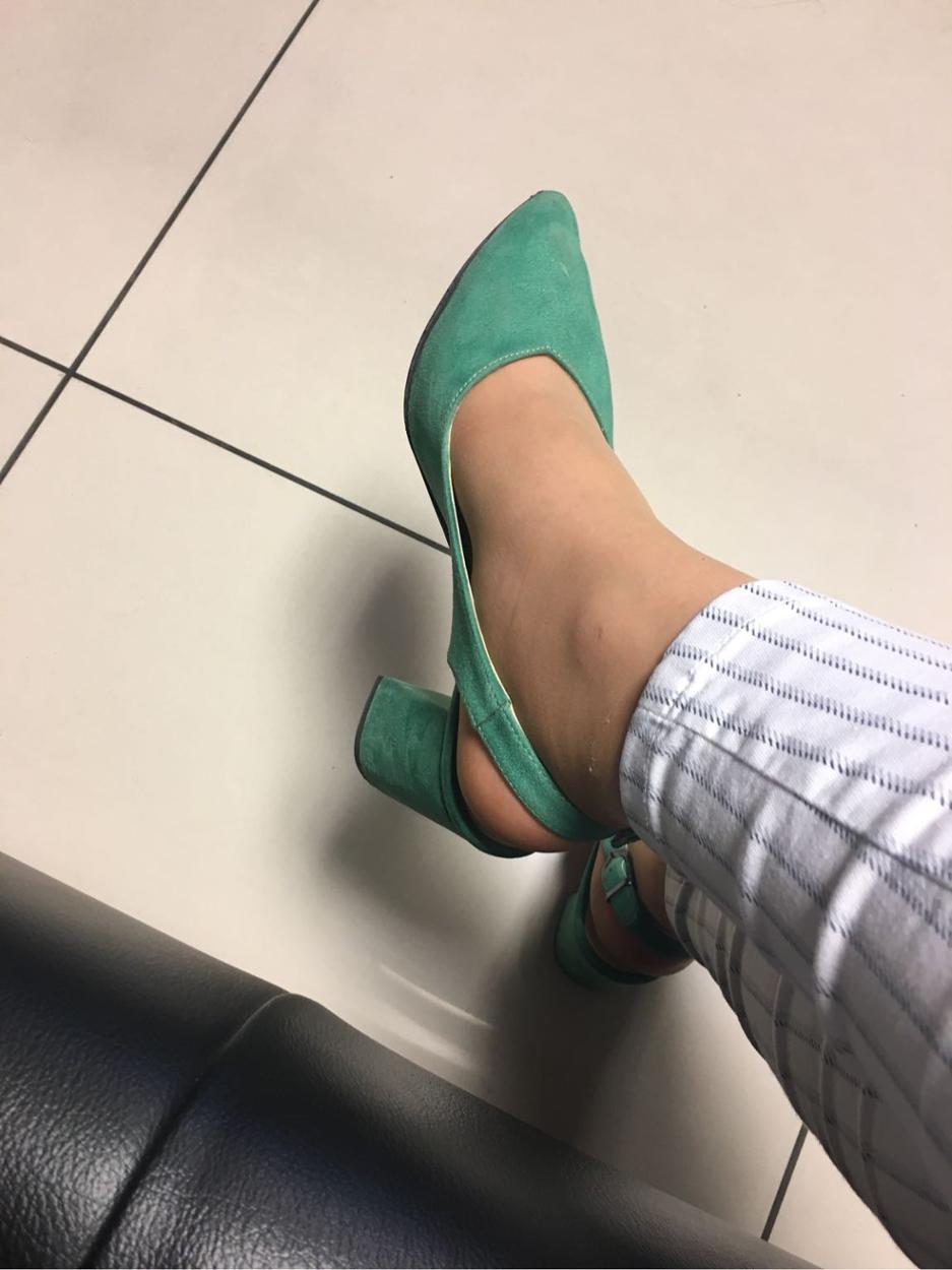 Car Shoe Kalın topuklu