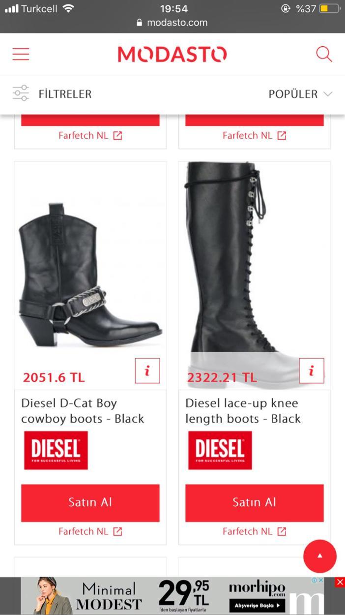 Diesel Kalın topuklu