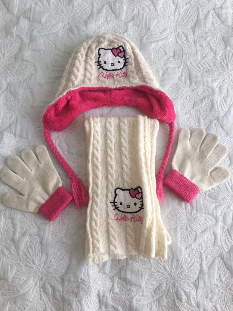 Hello Kitty Atkı & Bere & Eldiven